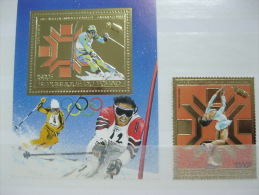 Chad-Sarajevo Winter Olympics Space  Gold MI# 974 BL 161 - Summer 1984: Los Angeles