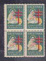 USA CINDERELLA BLx4 1952 AAE4521 - Erinnophilie