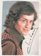 CHRISTIAN ADAM, CHANTEUR DES ANNEES 60/70 - AUTOGRAPHE, DISQUE AZ ELVER - VOIR LES SCANNERS - Autographes