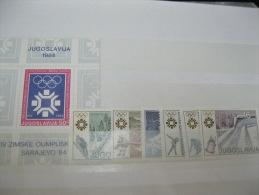 Yugoslavia -Olympic 1984 Sarajevo Olympics SC# 1645-51 - Summer 1984: Los Angeles
