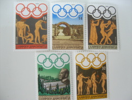 Greece-Olympic 1984-Los Angeles Olympics SC# 1495-1499  Strip  Of 5 - Summer 1984: Los Angeles