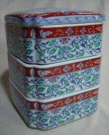 3 Levels Japanese Ceramic Box - Ceramics & Pottery