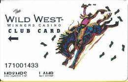 Wild West Winners Casino Deadwood SD Club Card  (Printed) - Casino Cards