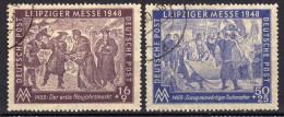 SBZ 1948, Mi 198-199, Gestempelt, Leipziger Messe [230815L] - Sowjetische Zone (SBZ)