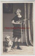 (87278) Foto AK Mädchen Mit Geige Und Hund, Fotograf Passau 1930er - Postcards