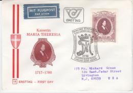 Austria FDC 1980 Maria Theresia 1717-1780 Bb151230 - FDC