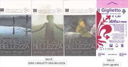 "SERIE 3 BIGLIETTI BUS USATI ""IDEA BELLEZZA"" FIRENZE ATAF - Bus"