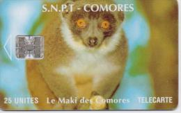 COMOROS ISL. PHONECARD LE MAKI DES COMORES CN:00171328 25UNITS   -USED - Comoros