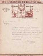 Lettre 16/12/1949 Entête Foire Exposition Du Finistère 1948 QUIMPER Finistère - France