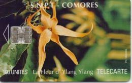 COMOROS ISL. PHONECARD FLOWER YLANG YLANG  CN:C5B154996 100UNITS   -USED - Komoren