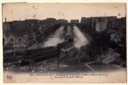 75 - B19889CPA - PARIS - METROPOLITAIN - Perspective De La Ligne Du Metro - Station Corvisart - Bd Auguste Blanqui - Met - Métro Parisien, Gares