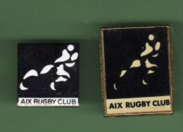 RUGBY *** AIX *** Lot De 2 Pin´s Differents *** (2000) - Rugby