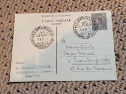 Luxembourg Carte Reponse Cachet Clervaux - Stamped Stationery
