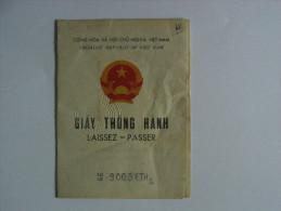Vietnam Laissez - Passer Passport !  Reisepass Passeport Passaporte - Historical Documents