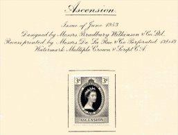 """Ascension  Y&T   62   X  MVLH    ---    1953  --  Coronation Queen Elisaberh II""""  --  See Scan Comments - Ascension (Ile De L')"""