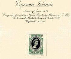 """Cayman Islands  Y&T  139   X  MVLH    ---    1953  --  Coronation Queen Elisaberh II""""  --  See Scan Comments - Iles Caïmans"""