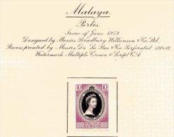 "Malaya - Perlis   Y&T  27   X  MVLH    ---    1953  --  Coronation Queen Elisaberh II""  --  See Scan Comments - Perlis"
