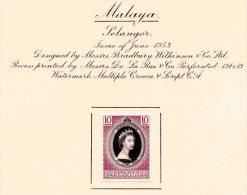 "Malaya - Selangor   Y&T  66   X  MVLH    ---    1953  --  Coronation Queen Elisaberh II""  --  See Scan Comments - Selangor"