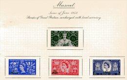 "Muscat   Y&T  34 - 37   X  MVLH    ---    1953  --  Coronation Queen Elisaberh II""  --  See Scan Comments - Oman"
