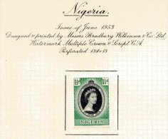 "Nigeria   Y&T  75   X  MVLH    ---    1953  --  Coronation Queen Elisaberh II""  --  See Scan Comments - Nigeria (1961-...)"