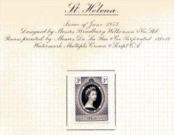 """St. Helena   Y&T  121   X  MVLH    ---    1953  --  Coronation Queen Elisaberh II""""  --  See Scan Comments - Sainte-Hélène"""