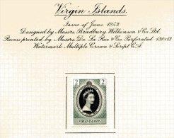 """Virgin Islands   Y&T  112  X  MVLH    ---    1953  --  Coronation Queen Elisaberh II""""  --  See Scan Comments - Iles Vièrges Britanniques"""