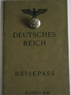 Germany WW2 Nazi  Passport !  Reisepass Passeport Passaporte - Historical Documents