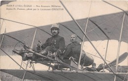 """¤¤   -   SAINT-CYR-L'ECOLE  -  Biplan """" H. FARMAN """" Piloté Par Le Lieutenant """" CHEUTIN """" - Avion, Aviateur, Aviation - St. Cyr L'Ecole"""