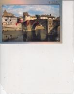 Nérac En Albret - Le Vieux Pont Sur La Baïse Et Vieille Maison à Colombage, Ref 1512-954 - Nerac