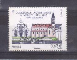 Année  2013  Collegiale Notre Dame De Melun Oblitéré - France