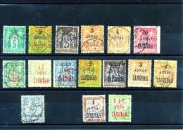 ZANZIBAR     (1894-1903 -  16 Valeurs Oblitérées ) Lot De Bonne Facture - Peu Courant - Usati