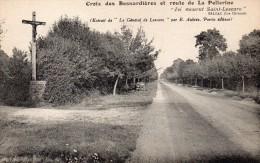 CPA     -   CROIX DES BESNARDIERES ET ROUTE DE LA PELLERINE - France