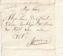 605/23 - Lettre Précurseur DRANOUTRE ( Heuvelland) 1749 Vers YPRES Iperen - Signé De Vriere - 1714-1794 (Austrian Netherlands)