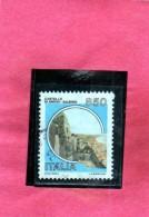 REPUBBLICA ITALY REPUBLIC 1980 1992 CASTELLI D'ITALIA CASTLES CASTELLO ARECHI SALERNO LIRE 850 USATO USED OBLITERE´ - 6. 1946-.. Repubblica