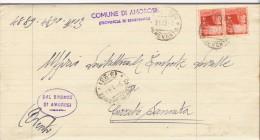 Cerreto Sannita. 1948. Annullo Frazionario 9 - 23 Su Lettera Con Democratica. Uso Tardivo Del Frazionario. - 6. 1946-.. República