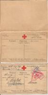 1915 - Lager Post Sibirien-Gumpoldskirchen, 2 Karte,  , Rote Kreuz, Doppelkarte, 2 Scan - 1850-1918 Empire
