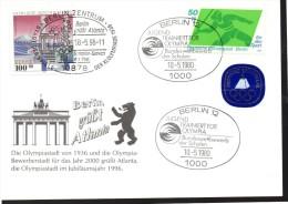 ALLEMAGNE BERLIN  Carte  750 Ans De Berlin 1996 Berlin 12 Jo Javelot Monument - Summer 1996: Atlanta