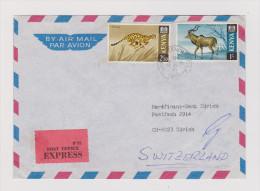 Afrika KENYA 1970-10-09 NAIROBI P.O. Exprès Brief Nach Zürich (auf 3 Seiten Geöffnet) - Kenya (1963-...)