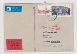 Afrika SÜDAFRIKA 1982-11-29 PAARL Exprès R-Brief Nach Winterthur - Afrique Du Sud (1961-...)