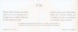 Huwelijk Van Paula Vermeulen-Van Herck Met Raphaël Corneillie-Dillen, Brasschaat-Merksem, 27/8/1955 - Wedding