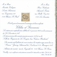 Mariage De  Clelia Marotta-Licata Et Giovanni Baio-Apassolo, La Louvière - Haine-St-Paul, 15/01/2000 - Boda