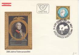 Austria FDC 1981 200 Jahre Toleranzedikt Bb151230 - FDC