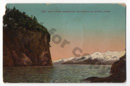 Argentina Tarjeta Postal Patagonia Estrecho Magallanes Carte Postale Vintage Original Ca1900 Postcard Cpa Ak (W4_1911) - Argentine