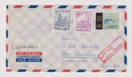 COSTA RICA 1968-03-08 Exprès Brief Nach Zollikon - Costa Rica