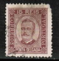 PONTA DELGADO   Scott # 3 USED FAULTS - Ponta Delgada