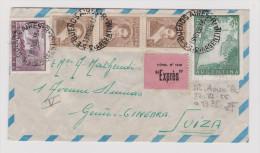 ARGENTINIEN 1956-11-19 BUENOS-AIRES Exprès R-Brief Nach Genf - Buenos Aires (1858-1864)