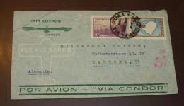 Argentina  Air Letter Luftpost Nach Hamburg Condor    #cover2890 - Luftpost