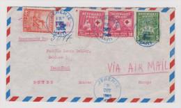 HAITI 1948-12-03 JEREMIE Blau Flugpost R-Brief Nach Neuchatel - Haïti
