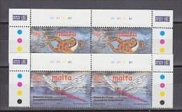 Europa Cept 2001 Malta 2v  Pair (corner+traffic Lights) ** Mnh (26769H) - 2001