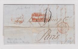 PUERTO RICO 1853-06-26 Vorphila Brief Nach Paris - Antilles